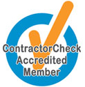 ContractorChek Accredited Company Logo Fire Monitoring of Canada