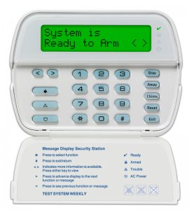 DSC PK5500 Full Message Security Alarm Keypad