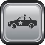 Police Car Icon for Fire Monitoring of Canada