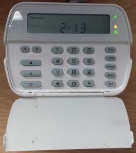 DSC Power Series Security Alarm Keypad with Trouble Light