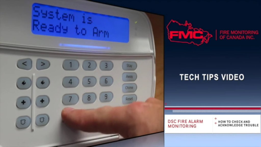How to Acknowledge a Trouble on a DSC ULC Fire Monitoring Keypad