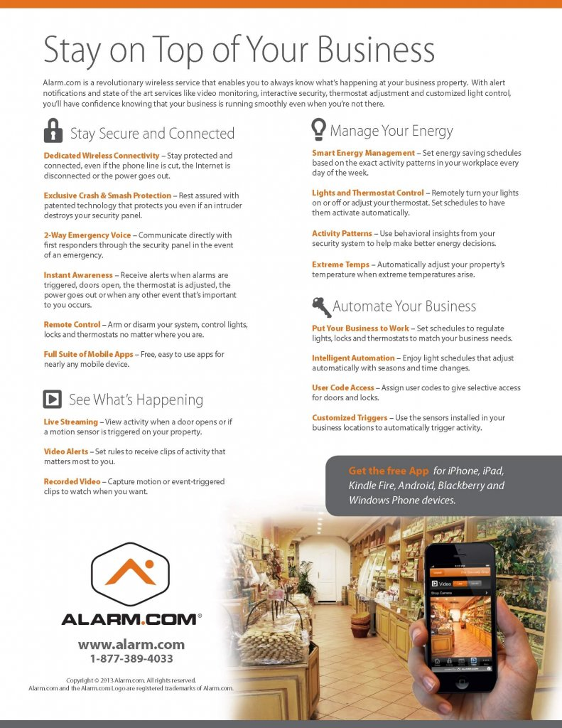 Commercial Intrusion Alarm Monitoring Stay On Top of Your Business