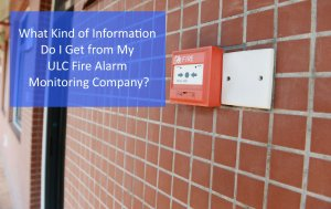 WHat Do I Get From My ULC Fire Monitoring Company header image with red fire pull station on a brick wall